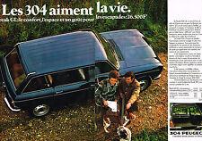 PUBLICITE ADVERTISING 025  1978  PEUGEOT 304 BREAK GL  ( 2p)