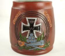 DUMLER & BREIDEN POTTERY BEER MUG STEIN GERMAN IRON CROSS WW1 INTEREST 1032 bb