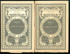 BARTOLI DANIELLO L'UOMO AL PUNTO 2 VOLUMI UTET 1930 CLASSICI ITALIANI 8-9