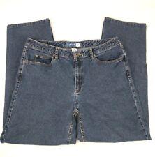 Liz Claiborne Womens 14R Jeans Straight Leg Fit Stretch Dark Blue Denim Wash - Z