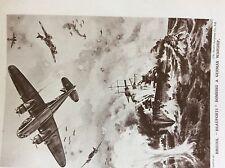 m17a4 ephemera 1920s book plate r a f bristol beauforts bombing warship ww2