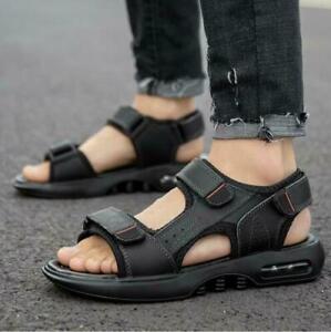 Mens Sandals Slingback Open Toe Outwear Slippers Summer Beach Casual Sport Shoes