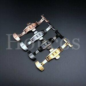 16-18-20-22-24MM DEPLOYMENT BUCKLE CLASP FOR LEATHER BAND STRAP ROLEX WATCH