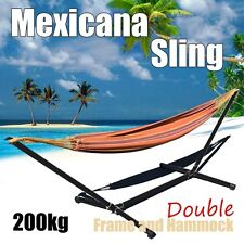 Pure Cotton Hammock Mexicana Sling & Frame Combo DOUBLE HAMMOCK + STAND SET