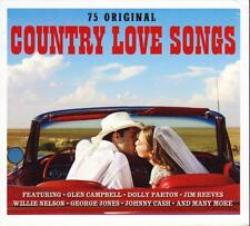 COUNTRY LOVE SONGS - 75 ORIGINAL - VARIOUS ARTISTS (NEW SEALED 3CD)