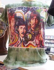 Men T shirt The Beatles short sleeve Cotton Sure Music Hippie Rock Love Flower M