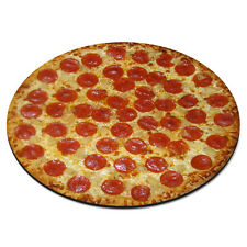 Pizza Pepperoni Circle Fast Food Diner Funny PC Computer Mouse Mat Pad