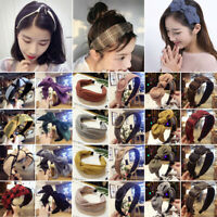 Women Fabric Alice Head Band Twist Hairband Bow Knot Headwrap Hair Band Hoop Lot