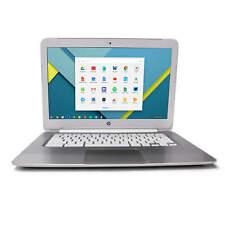 HP Chromebook F7W49UA Laptop Intel Celeron 4GB 16GB SSD Chrome Webcam Grade B