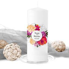 Hochzeitskerze Floral Dream inkl. Personalisierung Hochzeit Traukerze Blumen