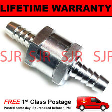 "10MM 3/8"" ONE WAY ALUMINIUM NON RETURN CHECK VALVE PETROL DIESEL OIL WATER"
