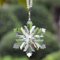 Dreamy Transparent Automobiles Ornaments Hanging  Snowflakes Shape Car Pendant