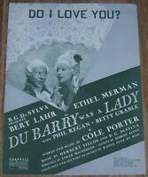 Ethel Merman Du Barry Was a Lady, Happy Hunting Lot of Two Theater Sheet Music