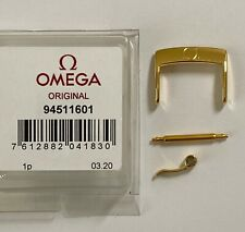 ORIGINAL OMEGA 16mm GOLD CLASP BUCKLE # 94511601 FITS 16mm STRAP BREADTH
