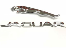 Jaguar letter Emblem Silver Leaping Cat Badge Decal XF XJ XK XJR XJS E X S TYPE