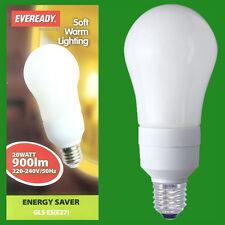 2x 20W CFL a Risparmio Energetico Lampadine,GLS; ES, E27 lampadine, Globi, 2700K