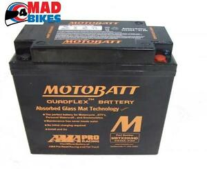 NEW BLACK MOTOBATT MBTX20 MOTORCYCLE HIGH POWERED BATTERY  SUIT HARLEY DAVIDSON