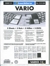 New Vario Stock Sheets 1C One-Sided Single Pocket Clear Pkg. 5