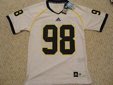 NWT Adidas Michigan Wolverines #98 White Screen Printed Jersey (Men Size Medium)