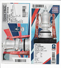 FA Cup 2012 tickets - Chelsea SF v Tottenham AND Final - Chelsea v Liverpool