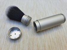 Silver Anodized Aluminium Tuxedo Synthetic Travel Shaving Brush