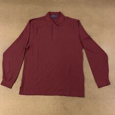 Port Authority K500LS Mens Size Small Burgundy Blank Long Sleeve Silk Touch Polo