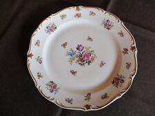 Kuchenplatte Servierplatte Reichenbach weiß m. Goldverzierung/ Blumendekor 30 cm