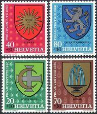 Switzerland 1980 Coats-of Arms/Welfare Fund/Lion/Sun/Fountain 4v set (n42546)