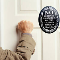 CW_ No Soliciting Fundraising Sign Home Business Door Plate Wooden Ornament Craf