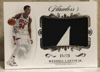 2018-19 Panini Flawless Wendell Carter Jr. RC Chicago Bulls Rookie Patch SP /20