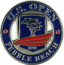 2019 US Open (Pebble Beach) -Flat- (Navy/Red) Logo Golf BALL MARKER