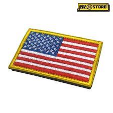 Patch Ricamata Bandiera USA Stati Uniti America 8x5cm Militare Softair con Velcr