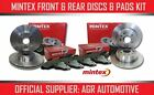 MINTEX FRONT + REAR DISCS AND PADS FOR VOLKSWAGEN LUPO 1.4 100 BHP 1999-05