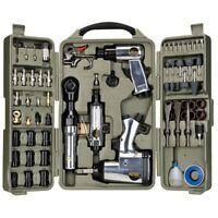 Trades Pro 71 Piece DIY Starter Air Tool Accessories Kit with Storage Case