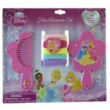 Disney Princess Pink Hair Accessory Comb,Mirror,&Ponytail Holders-New!