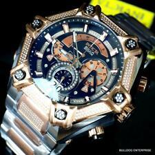 Invicta Shaq Bolt 1.4CTW Diamond Steel Swiss Mvt Rose Gold 2 Tone Watch 60mm New
