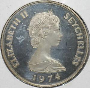 Seychelles 1974 Elizabeth II 10 Rupees Turtle animal proof 293157 combine shippi