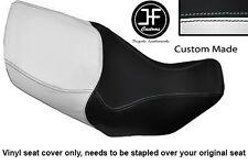 WHITE & BLACK VINYL CUSTOM FITS HONDA XL 1000 V VARADERO 99-07 DUAL SEAT COVER