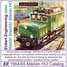 EE 1964/65 E$ VG Marklin HO Catalog 1964 Picture of 3022 Very Good Cond