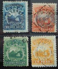 1863 Costa Rica ; Serie Wappen gestempelt, MiNr. 1/4, ME 60,-