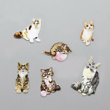 Cat Embroidery Brooches Wedding Brooch Pin Dress Party Repairing Sticker 6A
