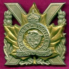 Post WW2 Canada Perth Regiment Cap Badge 50mm x 52 mm