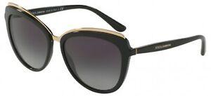 Dolce & Gabbana LESS IS CHIC DG 4304 Black/Grey 57/17/140 Sunglasses
