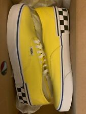 VANS AUTHENTIC (CHECK BLOCK) BLAZING YELLOW VN0A38EMVJS Size 9