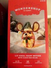Wondershop Holiday Yard Decor Lit Sisal Baby Mouse LAST 1