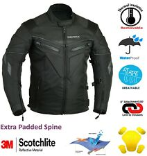 Spine paded Motorcycle Protection Jacket Waterproof CE Breathable