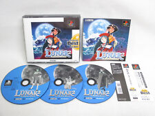 PS1 LUNAR 2 Eternal Blue The BEST with SPINE * Playstation PS Japan Game p1
