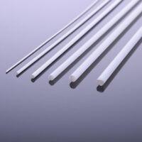 Dia 1-6mm ABS Plastic Round Rod Bar DIY 250mm Model Scenery Build 5PCS