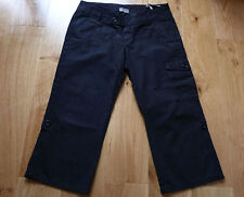 MEXX Smart Casual Black Cropped Pinstripe Trousers, Size UK 10, Hardly Worn!