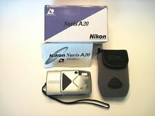 Vintage Nikon Nuvis A20 Aps Film Camera with Box, Case, Strap, Instruction Book